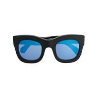 Illesteva Óculos De Sol Oversized Espelhado - Preto