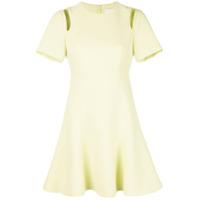 Cinq A Sept Vestido Com Vazado Nos Ombros - Amarelo