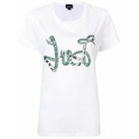 Just Cavalli Camiseta Com Aplicação De Paetês - Branco