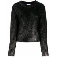 Dondup Metallic Sheen Detail Sweater - Preto