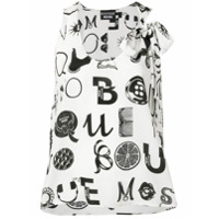 Boutique Moschino Blusa 'ornamental Letters' - Branco