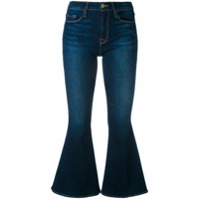Frame Denim Calça Jeans Cropped Flared - Azul