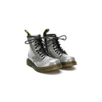 Dr Martens Kids Ankle Boot Com Brilho - Metálico
