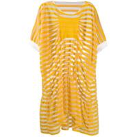 Tsumori Chisato Vestido Translúcido - Amarelo