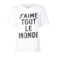 Cinq A Sept Camiseta 'j'aime Tout Le Monde' - Branco