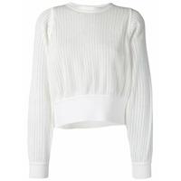Molli Suéter Cropped Jahanne - Branco