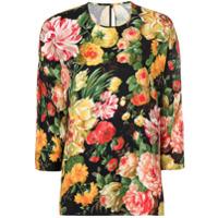 Dolce & Gabbana Camiseta Floral - Preto