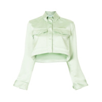 Off-White Jaqueta Cropped - Verde