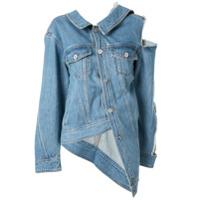 Ground Zero Jaqueta Jeans Com Recortes Vazados - Azul
