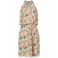 Fillity Vestido Curto De Seda Floral - Rosa