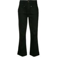 Khaite Calça Jeans Flare Cropped 'raquel' - Preto