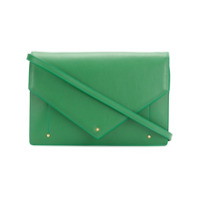 Sara Battaglia Clutch 'plisse' De Couro - Green