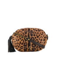Jérôme Dreyfuss Leopard Print Crossbody Bag - Marrom