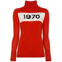 Bella Freud Wool Long Sleeve 1970 Sweater - Vermelho