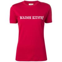Maison Kitsuné Camiseta Slim Com Logo - Vermelho