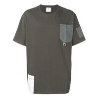 C2H4 Camiseta Com Bolso No Busto - Cinza