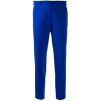 Etro Cropped Tailored Trousers - Azul