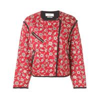 Isabel Marant Étoile Jaqueta Bomber Floral - Vermelho