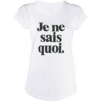 Zadig&voltaire Camiseta Com Estampa Slogan - Branco