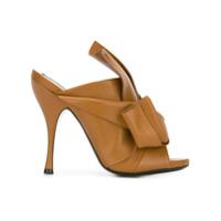Nº21 Sapato mule de couro - Neutro