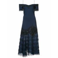Jonathan Simkhai Vestido Com Renda - Azul