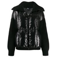 Moncler Grenoble Knitted Padded Jacket - Preto