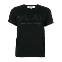 Comme Des Garçons Play Camiseta Com Estampa - Preto
