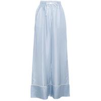 Sacai Calça Pantalona Listrada - Azul
