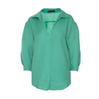 Bianza Camisa 'alluse'com Linho - Verde