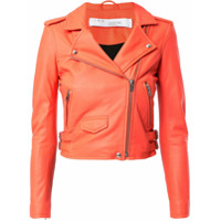 Iro Cropped Biker Jacket - Laranja