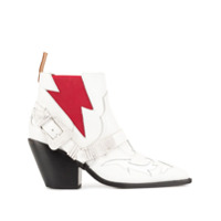 Pushbutton Bota Western - Branco