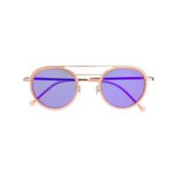 Cutler & Gross Óculos De Sol Redondo - Rosa