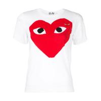 Comme Des Garçons Play Camiseta Com Estampa Heart - Branco
