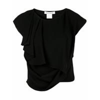 Bianca Spender Camiseta Assimétrica - Preto