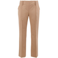 Rokh Cropped Straight-Leg Trousers - Marrom