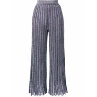 Missoni Calça De Tricô Com Glitter - Azul