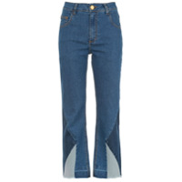 Corporeum Calça Jeans Flare Patchwork - Azul