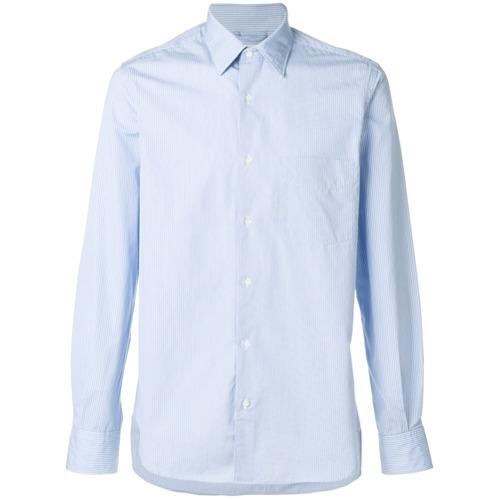 Imagem de Aspesi Camisa slim listrada - Azul