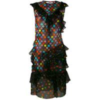 Givenchy Vestido Com Poás De Seda - Preto