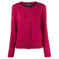 Boutique Moschino Contrast Cardigan - Rosa