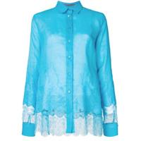 Ermanno Scervino Camisa Com Renda - Azul