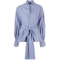Jejia Margot Checked Long Shirt - Azul