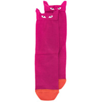 Paul Smith Par De Meias Com Rosto De Gato - Rosa