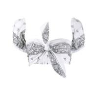 Forte Dei Marmi Couture Blusa Cropped Bandana - Branco