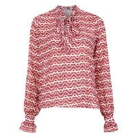 Pop Up Store Blusa Estampada Com Amarração - Vermelho