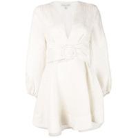 Shona Joy Vestido Evasê Listrado - Branco