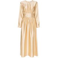 Deitas Maxi Vestido De Seda 'hermine' - Dourado
