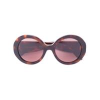 Alexander Mcqueen Eyewear Óculos De Sol Redondo - Marrom