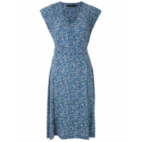 Fillity Vestido Curto Estampado Com Amarração - Azul
