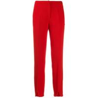Courrèges Calça Cintura Média Com Fendas - Vermelho